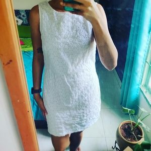 White hakoba cotton dress